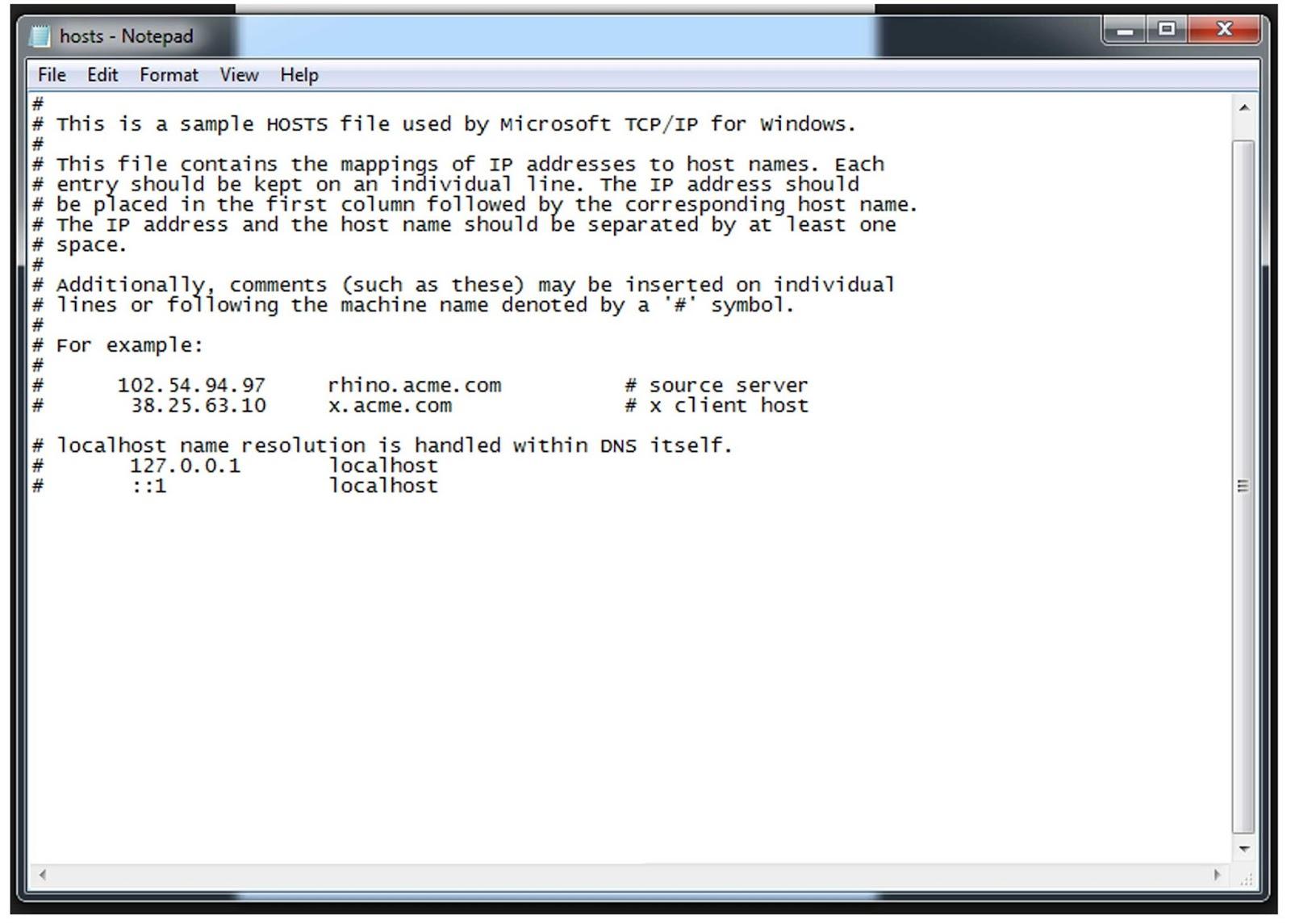 Как отредактировать файл hosts в Windows 7, Vista?