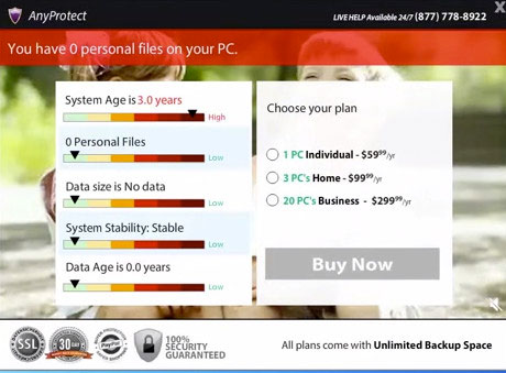 рекламная панель Anyprotect