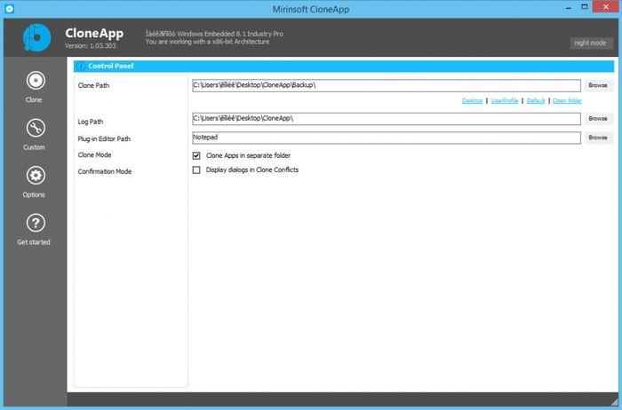 CloneApp – утилита для создания резервных копий настроек популярных программ