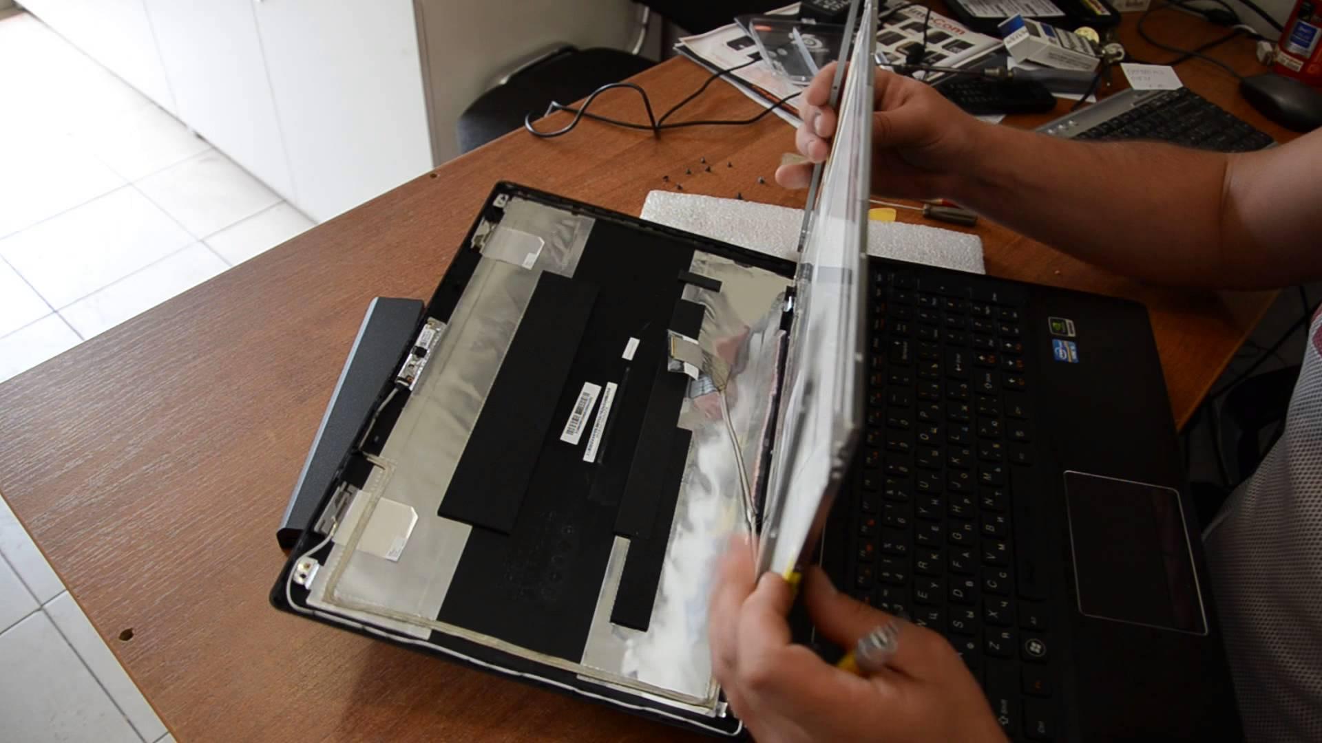 Замена матрицы экрана ноутбука своими руками