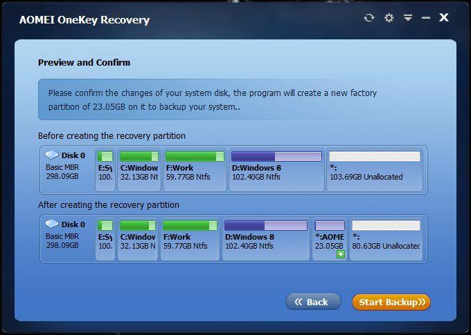 AOMEI OneKey Recovery: инструмент, который поможет вам создать раздел восстановления Windows