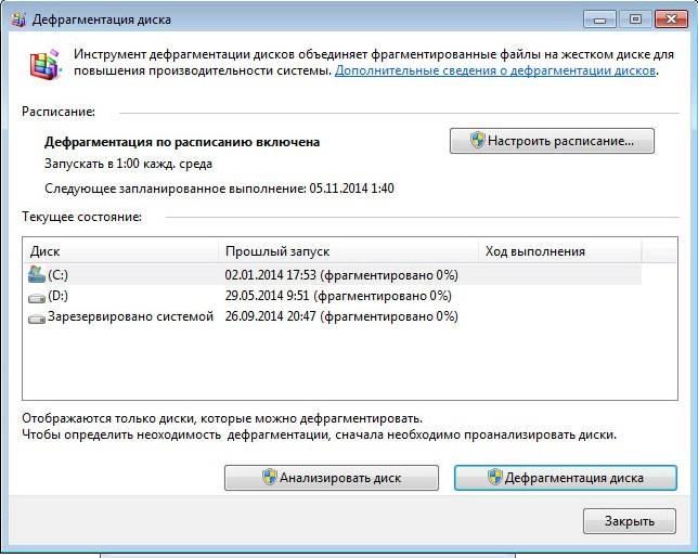 Что такое дефрагментация диска в Windows