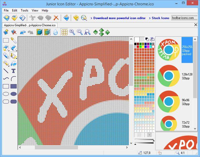 Junior Icon Editor – простой инструмент для создания и редактирования иконок в Windows