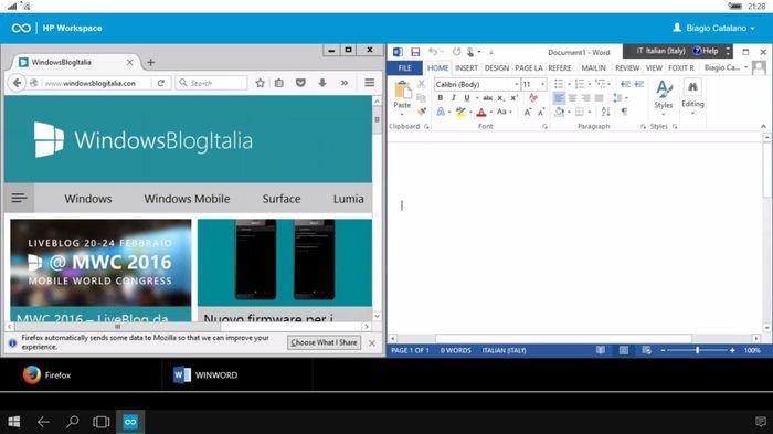Как HP Workspace обеспечит доставку x86 приложений на смартфоны с Windows 10 Mobile