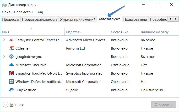 Как открыть автозагрузку в Windows 10: нужно вызвать окно выполнить, и ввести команду или запустить диспетчер задач, чтобы узнать какие программы стартовали с системой