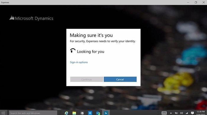 Microsoft представила Windows Hello: система аутентификации в Windows 10 с использованием биометрических данных пользователя