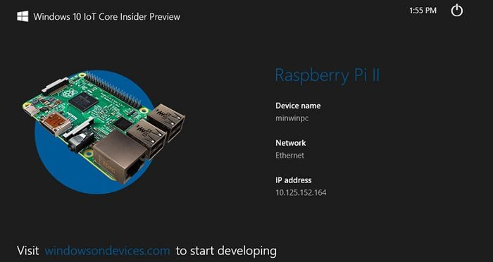 Microsoft выпускает Windows 10 IoT Core Insider Preview