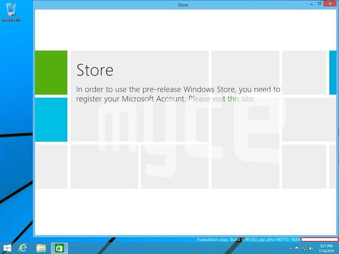 Новые скриншоты Windows Threshold: меню «Пуск» + Metro-приложение в оконном режиме