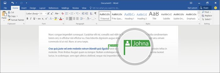 Office 2016 Preview: функция соавторства теперь поддерживает файлы Word, хранящиеся в OneDrive