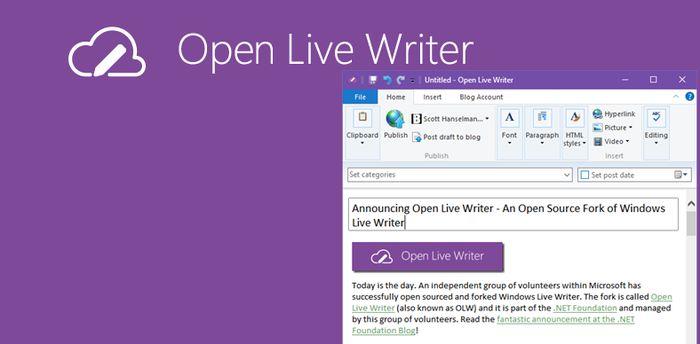 Open Live Writer: версия Windows Live Writer с открытым исходным кодом