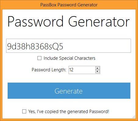 PassBox: бесплатный менеджер и генератор паролей для Windows
