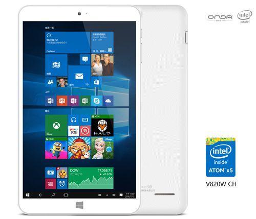 Планшеты Onda V820W CH и V919 Air CH с Windows 10 и Atom x5