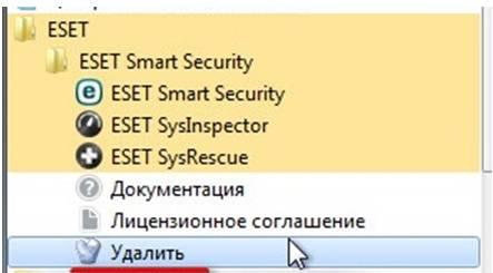 Полное удаление антивируса ESET NOD32 с компьютера