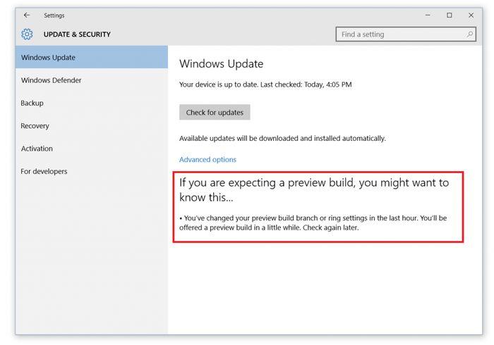 Релиз Windows 10 Insider Preview build 10547