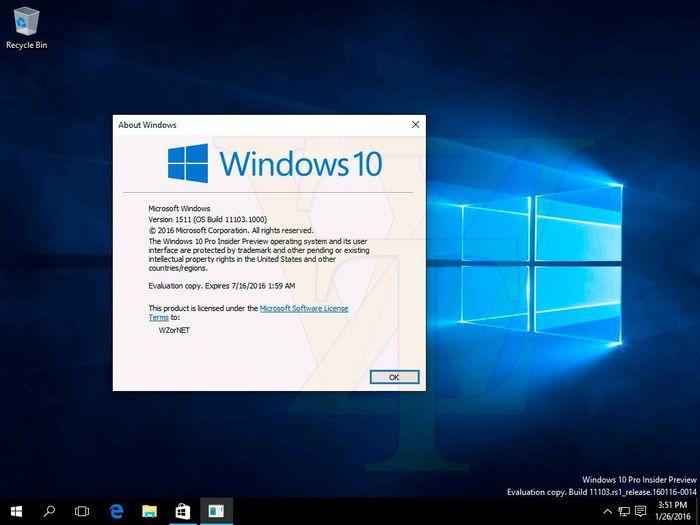 Скриншоты Windows 10 Build 11103