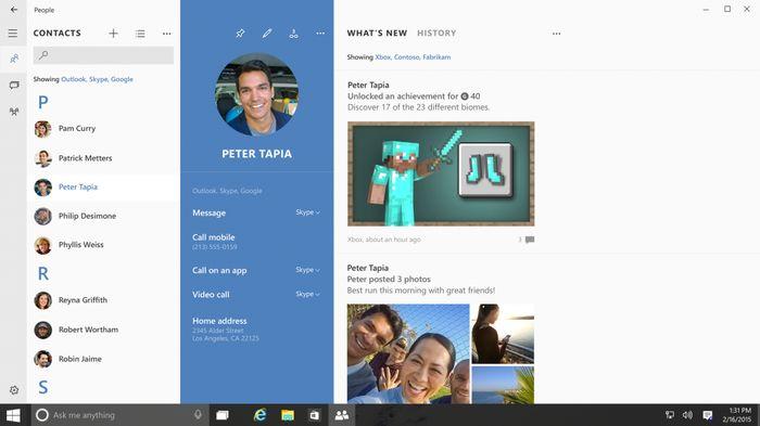 Skype: глубокая интеграция в ПК, планшеты и смартфоны с Windows 10