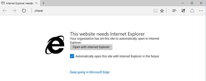 Сосуществование Microsoft Edge и IE11 в Windows 10 выгодно для корпоративных пользователей