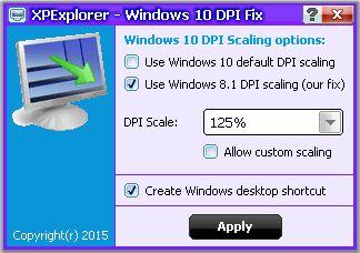 Устраняем проблему размытых шрифтов при масштабировании DPI в Windows 10