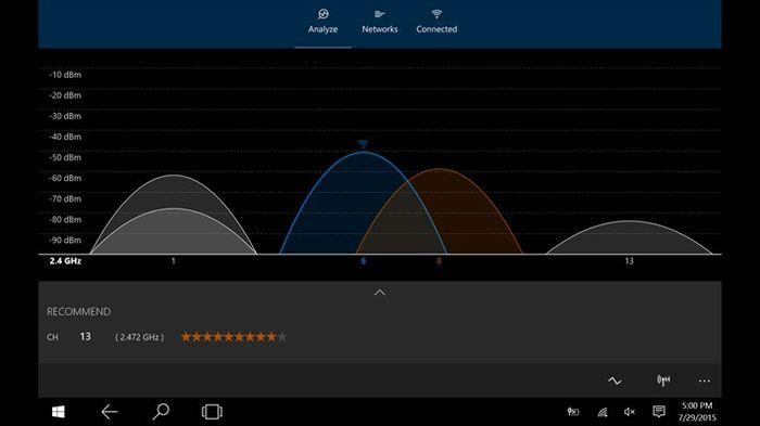 WiFi Analyzer доступен в версии для Windows 10