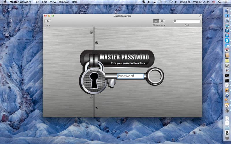 Master Password – данная программа отличается немного нестандартным алгоритмом хранения паролей, она не предусматривает наличие зашифрованного сейфа