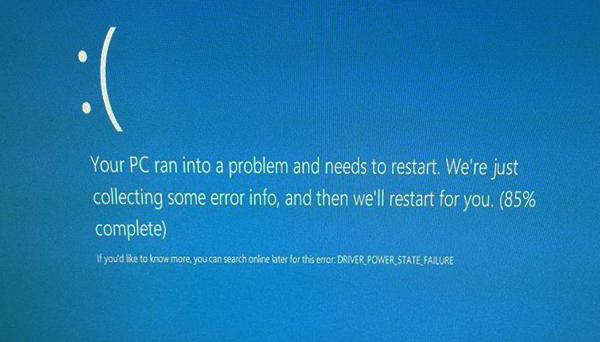 Исправить driver power state failure ошибку Windows