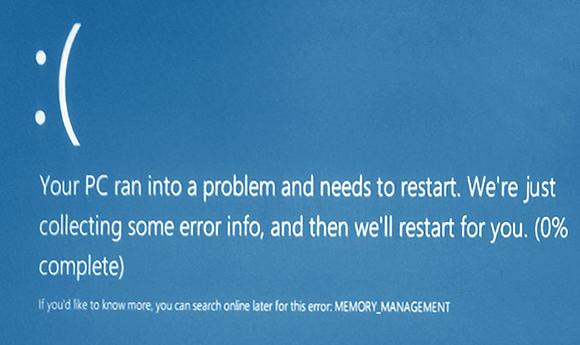 Исправить memory management ошибка кода ОС Windows