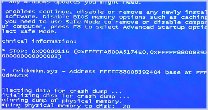 Исправить nvlddmkm sys ошибку синий экран Windows