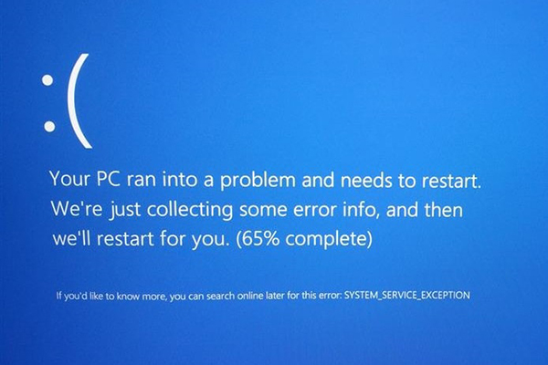 Исправить system service exception ошибку Windows