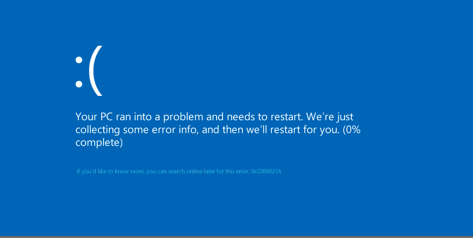 Код ошибки 0xc000021 Windows 8 как исправить