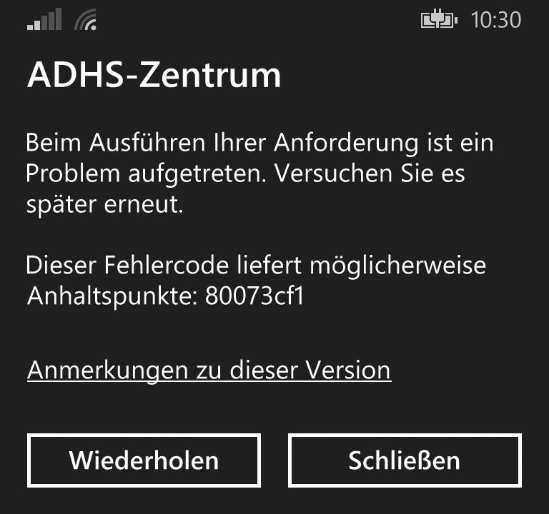 Код ошибки 80073cf1 исправить на Windows phone