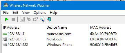 Смотрим кто подключен к моему wifi