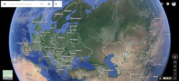 Карты Гугл онлайн в реальном времени и отличного качества