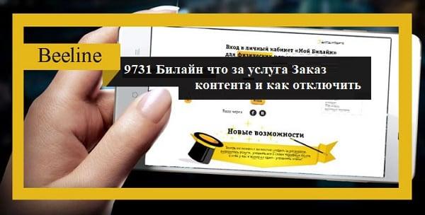 9731 Билайн что за услуга Заказ контента и как отключить