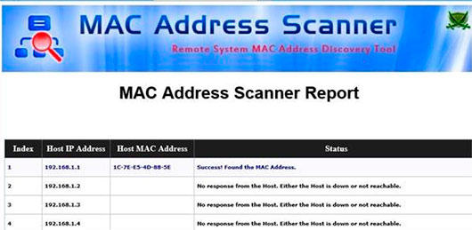 MAC Address Scanner для мониторинга сетевых адресов