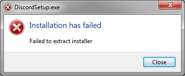 Как исправить installation has failed discord если ошибка
