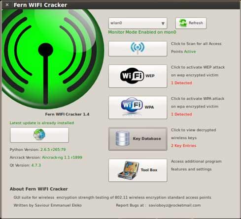 WiFi Crack для брутфорса паролей