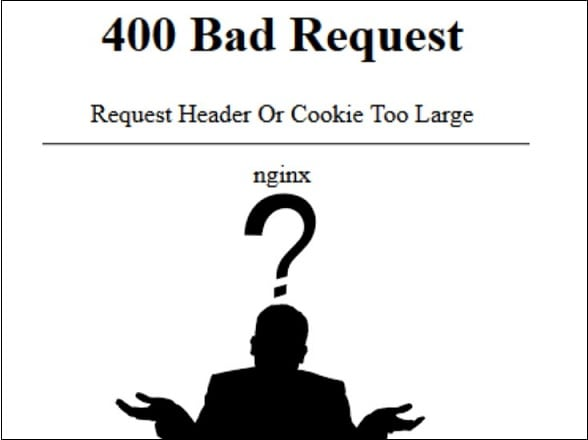 Как исправить Request Header Or Cookie Too Large