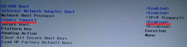 Boot Device Not Found на HP что делать