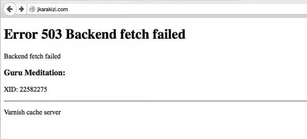 Что делать с error 503 backend fetch failed и как исправить
