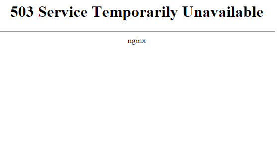 Что ошибка значит 503 service temporarily unavailable